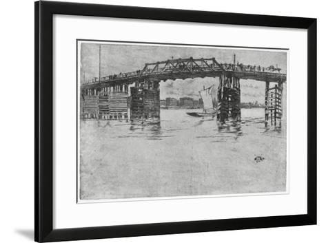 Battersea Bridge, London, 19th Century-James Abbott McNeill Whistler-Framed Art Print