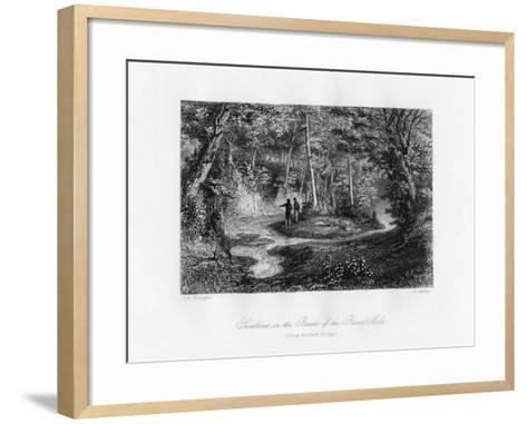 Swallows in the Banks of the River Mole, Surrey, 19th Century-J Archer-Framed Art Print