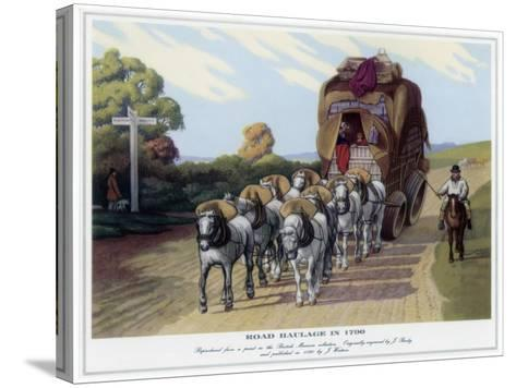 Road Haulage in 1790-J Baily-Stretched Canvas Print