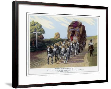 Road Haulage in 1790-J Baily-Framed Art Print
