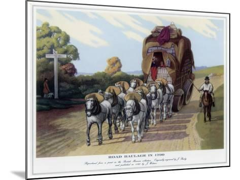 Road Haulage in 1790-J Baily-Mounted Giclee Print
