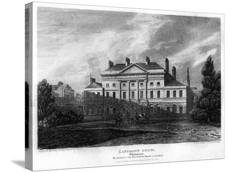 Lansdowne House, Westminster, London, 1815-J Shury-Stretched Canvas Print