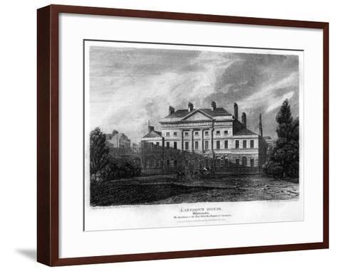 Lansdowne House, Westminster, London, 1815-J Shury-Framed Art Print