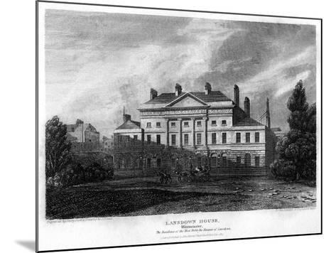 Lansdowne House, Westminster, London, 1815-J Shury-Mounted Giclee Print