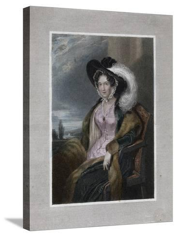 Mary Elizabeth, Baroness of Clifford, 1828-J Wright-Stretched Canvas Print