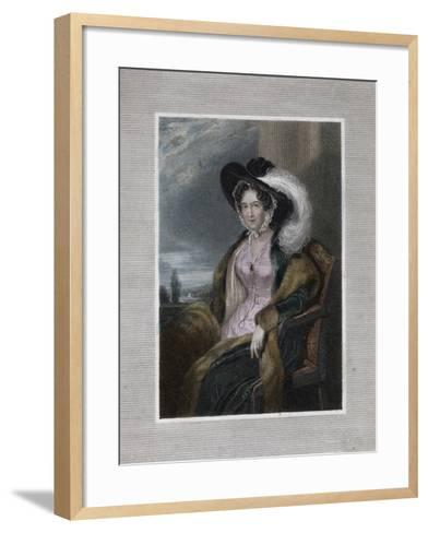 Mary Elizabeth, Baroness of Clifford, 1828-J Wright-Framed Art Print