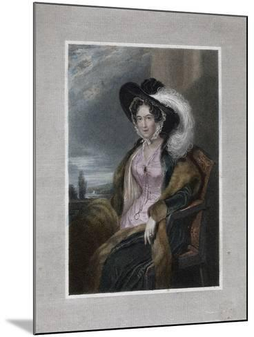 Mary Elizabeth, Baroness of Clifford, 1828-J Wright-Mounted Giclee Print