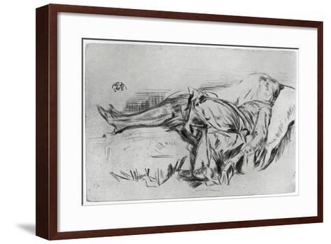 Child on a Couch, 19th Century-James Abbott McNeill Whistler-Framed Art Print