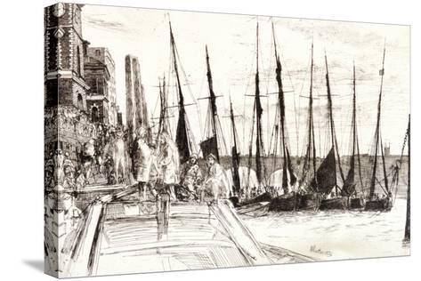 Boats Alongside Billingsgate, London, 1859-James Abbott McNeill Whistler-Stretched Canvas Print