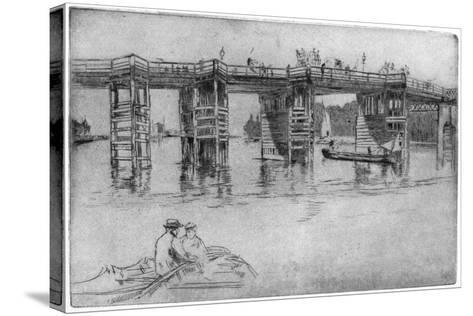 Old Putney Bridge, 1879-James Abbott McNeill Whistler-Stretched Canvas Print