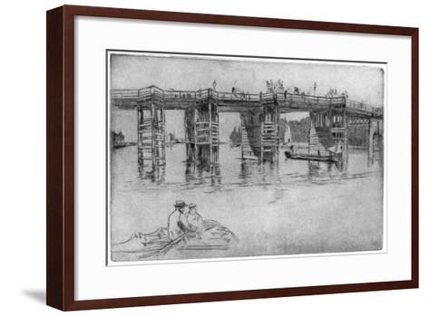 Old Putney Bridge, 1879-James Abbott McNeill Whistler-Framed Art Print