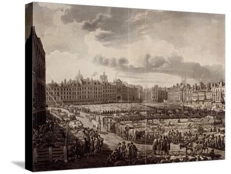 Smithfield Market, London, 1811-J Bluck-Stretched Canvas Print