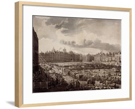 Smithfield Market, London, 1811-J Bluck-Framed Art Print