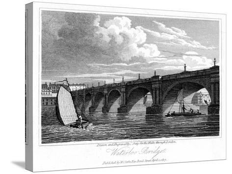Waterloo Bridge, London, 1817-J Greig-Stretched Canvas Print