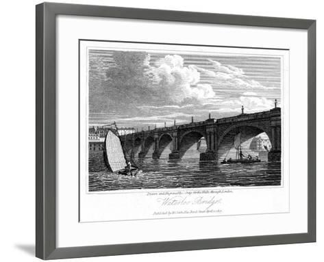Waterloo Bridge, London, 1817-J Greig-Framed Art Print