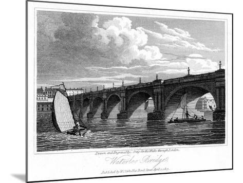 Waterloo Bridge, London, 1817-J Greig-Mounted Giclee Print