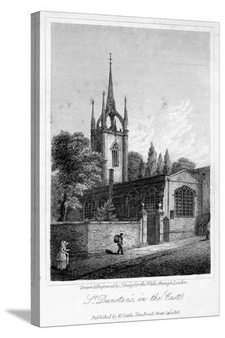 Church of St Dunstan in the East, City of London, 1816-J Greig-Stretched Canvas Print