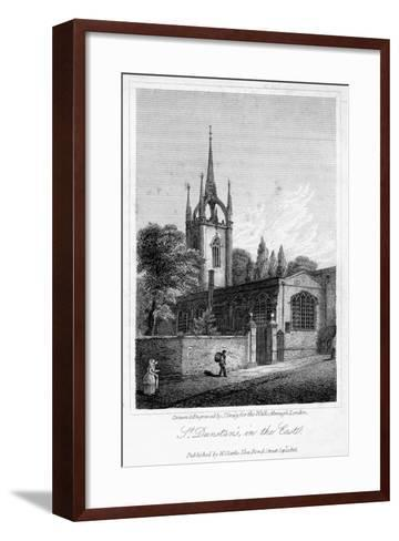 Church of St Dunstan in the East, City of London, 1816-J Greig-Framed Art Print