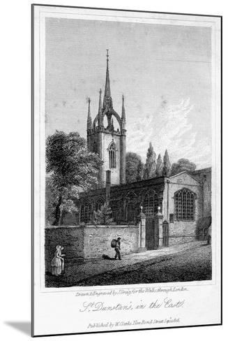 Church of St Dunstan in the East, City of London, 1816-J Greig-Mounted Giclee Print