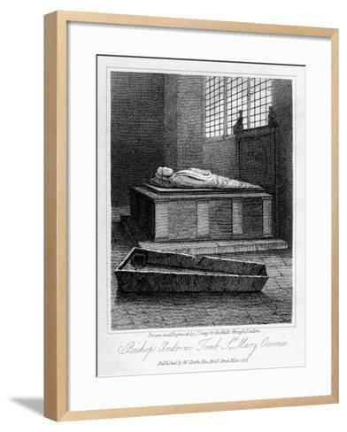 Bishop Andrew's Tomb, St Mary Overie's Church, Southwark, London, 1817-J Greig-Framed Art Print