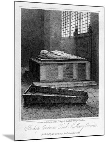 Bishop Andrew's Tomb, St Mary Overie's Church, Southwark, London, 1817-J Greig-Mounted Giclee Print