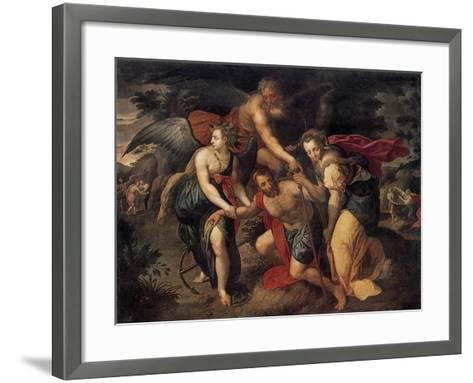 The Three Ages of Man, Allegory, Late 16th Century-Jacob de Backer-Framed Art Print