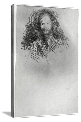 Swinburne, 19th Century-James Abbott McNeill Whistler-Stretched Canvas Print