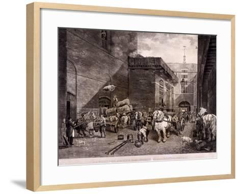The Hour Glass Brewery on Upper Thames Street, London, 1821-J Bromley-Framed Art Print
