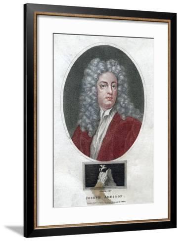 Joseph Addison, English Politician and Writer, 1796-J Chapman-Framed Art Print