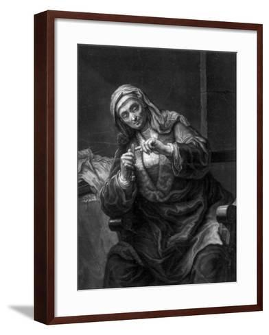 Old Woman Cutting Her Nails, 18th or 19th Century-J Haid-Framed Art Print