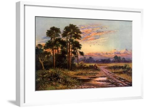 Autumn Sunset, 1911-1912-J Maurice-Framed Art Print