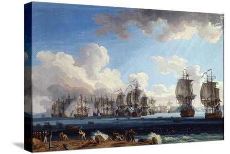 The Naval Battle of Chesma on 5 July 1770, 18th Century-Jacob Philipp Hackert-Stretched Canvas Print