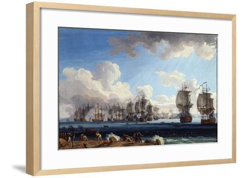 The Naval Battle of Chesma on 5 July 1770, 18th Century-Jacob Philipp Hackert-Framed Art Print