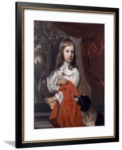 Portrait of a Young Boy with a Dog, 1658-Jacob van Loo-Framed Art Print