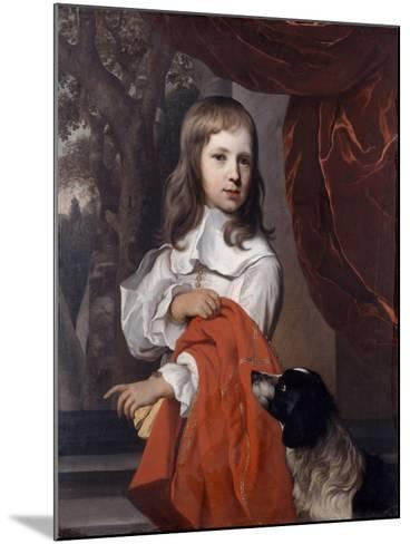 Portrait of a Young Boy with a Dog, 1658-Jacob van Loo-Mounted Giclee Print