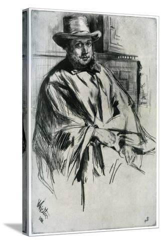 Mr Mann, 1860-James Abbott McNeill Whistler-Stretched Canvas Print