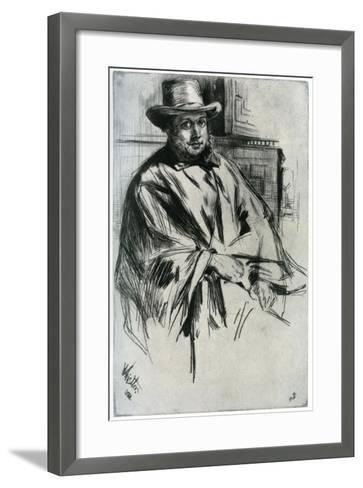 Mr Mann, 1860-James Abbott McNeill Whistler-Framed Art Print