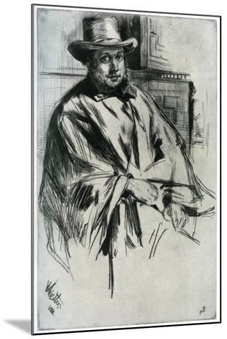 Mr Mann, 1860-James Abbott McNeill Whistler-Mounted Giclee Print