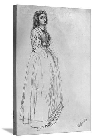 Fumette, Standing' 1859-James Abbott McNeill Whistler-Stretched Canvas Print
