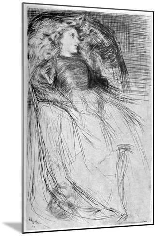 Weary, 1863-James Abbott McNeill Whistler-Mounted Giclee Print