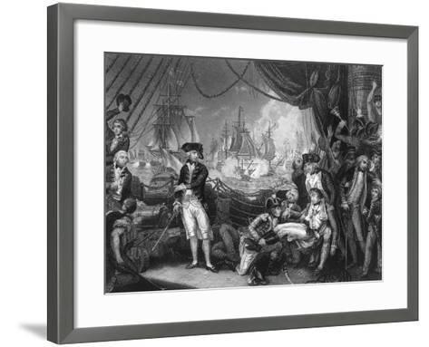 Scene on the Deck of the Queen Charlotte, 1 June 1794-J Rogers-Framed Art Print
