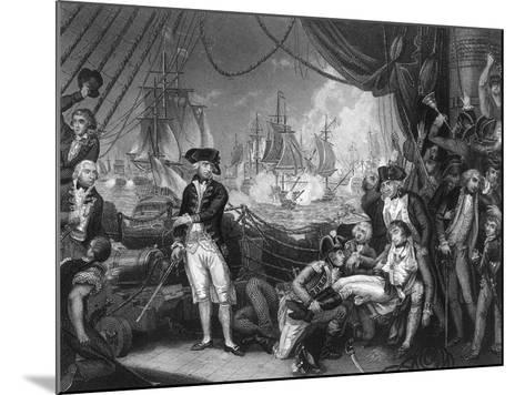 Scene on the Deck of the Queen Charlotte, 1 June 1794-J Rogers-Mounted Giclee Print
