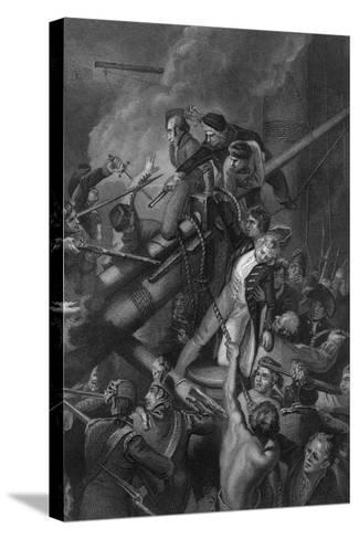 The Death of Captain Faulknor, 1795-J Rogers-Stretched Canvas Print