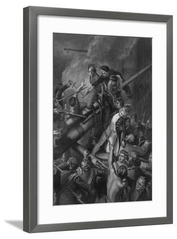 The Death of Captain Faulknor, 1795-J Rogers-Framed Art Print