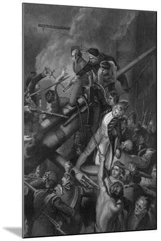 The Death of Captain Faulknor, 1795-J Rogers-Mounted Giclee Print