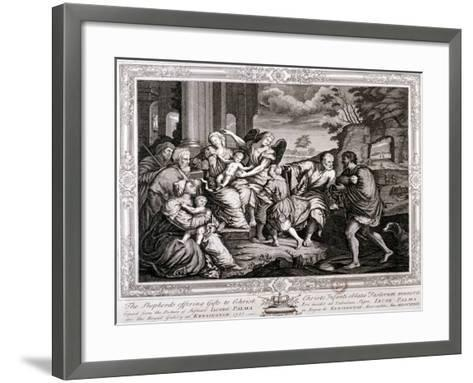 The Shepherds Offering Gifts to Christ, 1733-Jacopo Palma-Framed Art Print