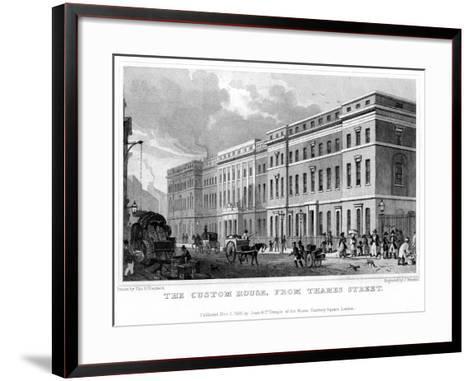 The Custom House from Thames Street, City of London, 1828-J Henshall-Framed Art Print