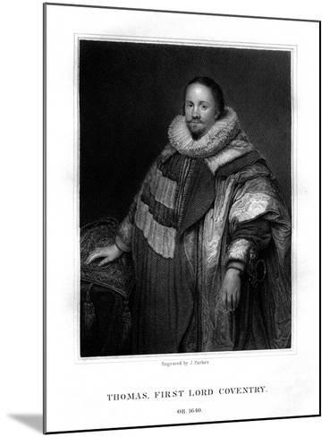 Thomas Coventry, First Lord Coventry-J Parker-Mounted Giclee Print