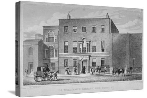 View of Dr Williams's Library in Redcross Street, City of London, 1829-J Starling-Stretched Canvas Print