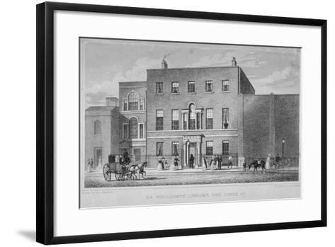 View of Dr Williams's Library in Redcross Street, City of London, 1829-J Starling-Framed Art Print